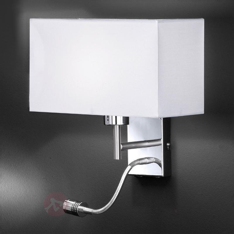 Applique fonctionnelle Kempten avec bras LED - Appliques en tissu