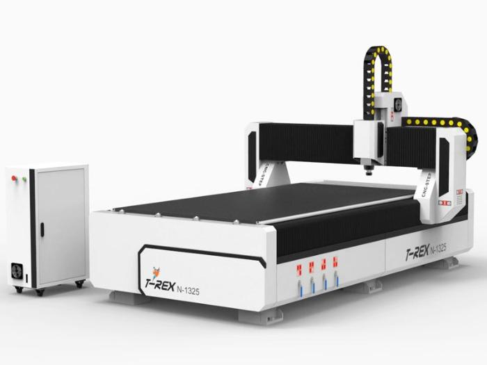 CNC Mill T-Rex N-1325 - Travel paths 2500 x 1300 mm with bellows and closed energy chains