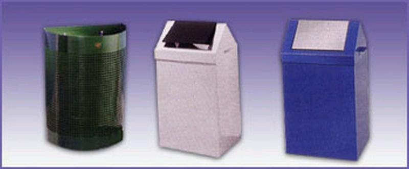 Metal waste bins - null