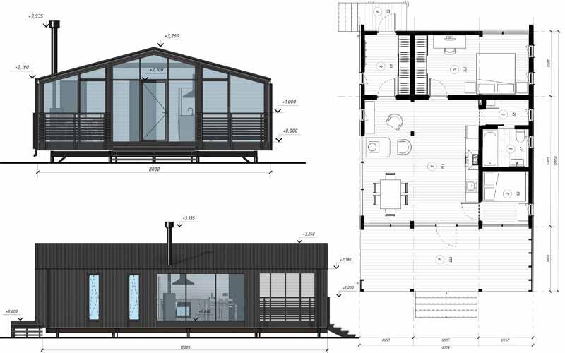 Модульный дом ДубльДом 65