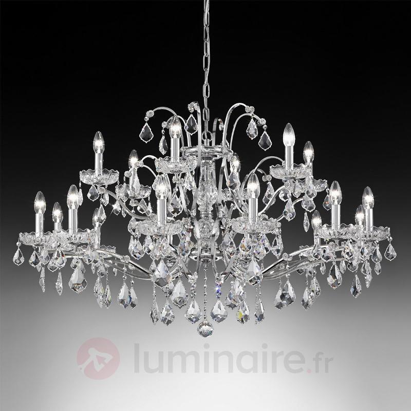 Lustre avenant Salisburgo à 18 lampes - Lustres en cristal