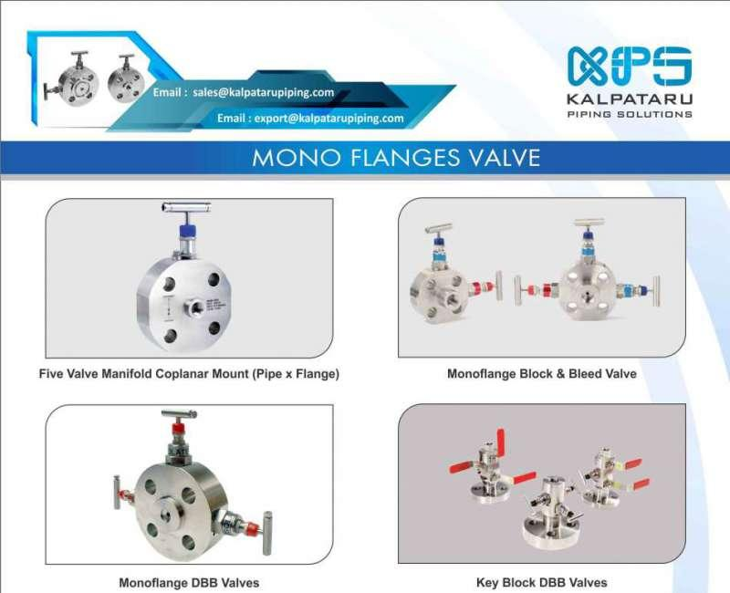 Stainless Steel Monoflange Valves - Stainless Steel 304 Monoflange Valves - Stainless Steel 316 Monoflange Valves
