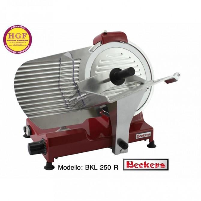 Affettatrice inclinata da 25 cm di diametro - AFF01125 Affettatrice rossa professionale BKL 250 R Beckers ( NUOVA ) - Beckers