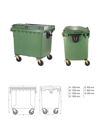 Plastic Waste Containers - PRR1100