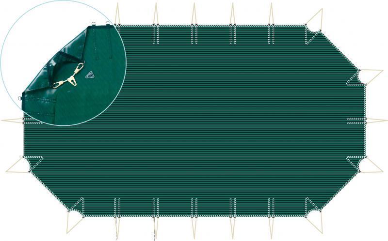 Filet hexagonale pour piscine hors sol bois 5mx5m - filetpiscinehexavert