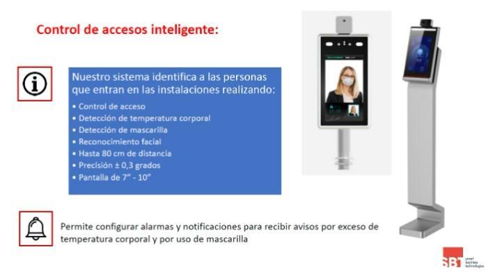 Control de Accesos inteligente - Detecta temperatura y mascarilla