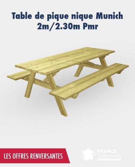 Promo Table Pique Nique Munich - Promotion Aménagement Extérieur