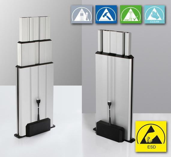 Columna elevadora Multilift II ESD - Derivar tensiones eléctricas a través de la columna elevadora