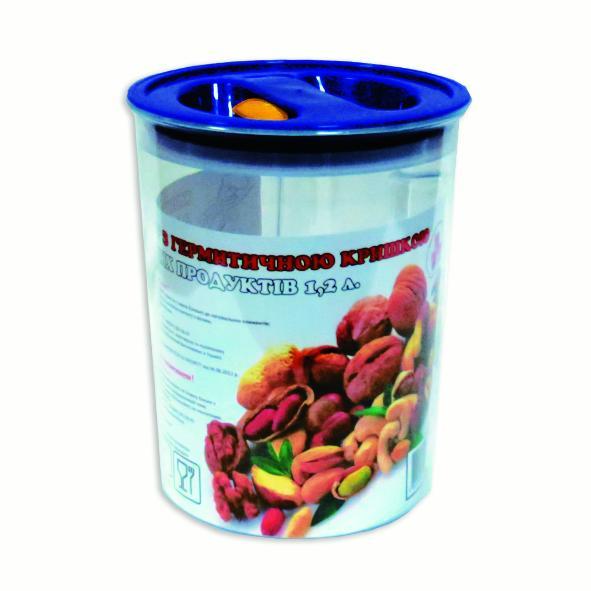 Контейнер для сыпучих продуктов - обем 1,2 л.