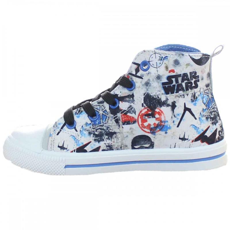 8x Baskets montantes sur cintre Star Wars du 29 au 36 - Chaussures