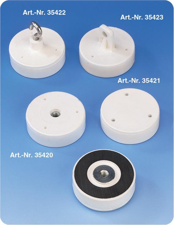 Magnetsysteme mit weißer Ummantelung - null