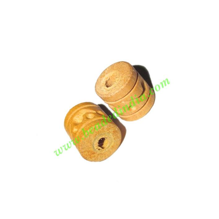 Natural Color Wooden Beads, size 10x11mm, weight approx 0.59 - Natural Color Wooden Beads, size 10x11mm, weight approx 0.59 grams
