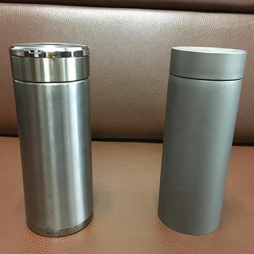 Botella de titanio - Pure Titanium, pulido de voladura PVD doble botella de agua deportiva, 70x220 mm