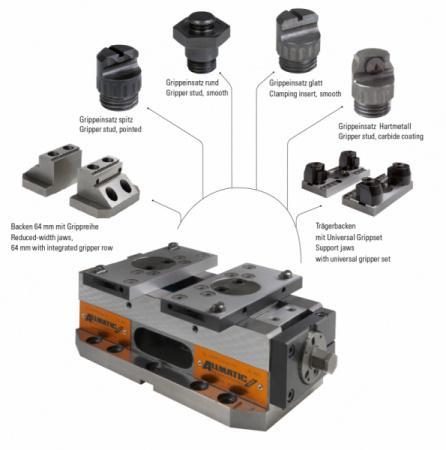 Version CENTRO GRIPP 125 MECHANISCH - Optimal für den Einsatz auf 5-Achs-Bearbeitungszentren durch kompakte Bauweise