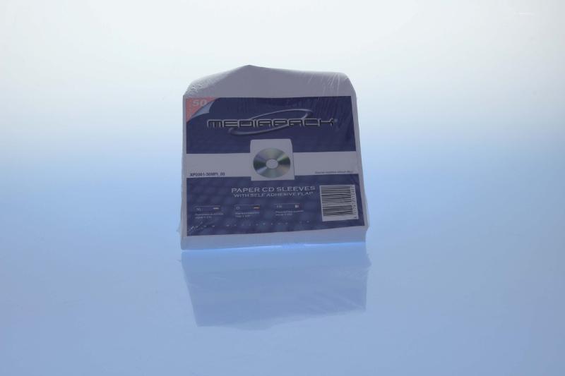 Papierfenstertasche für 1 CD - MPI - 50er Pack - Retailverpackungen & Zubehör