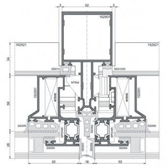 Ponzio NT 152SG - Aluminiumfenster