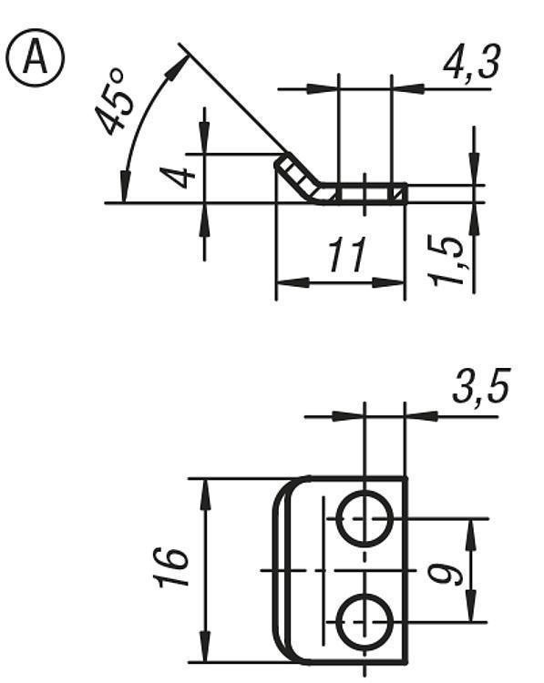 Chiusure a leva con staffa elastica - K0043