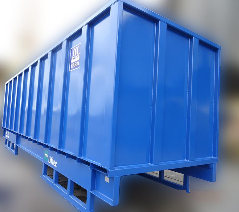 Tanks en stalen containers
