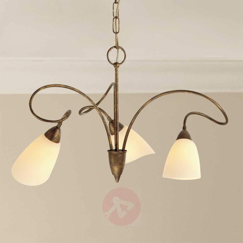 3-bulb country house hanging light Alessandro - Pendant Lighting
