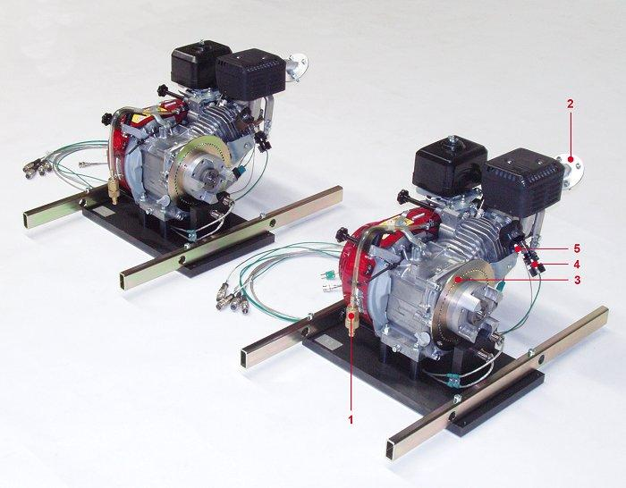 Demonstration equipment for technical training - Engine test beds and demonstration engines for technical training