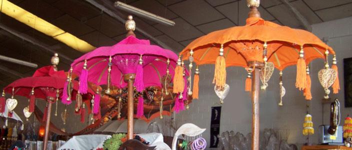Ombrelle colorée Bali Indonésie - Ombrelle déco mariage