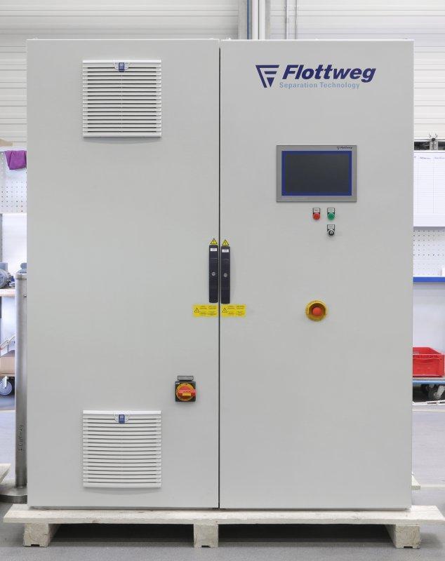 Decantador OSE - Decanter Flottweg OSE. Óptimo espesamiento de lodos primarios y exceso de lodo.