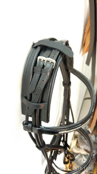 Rolled bridles with reins - Rolled bridles Arabian style with Broad Headpiece