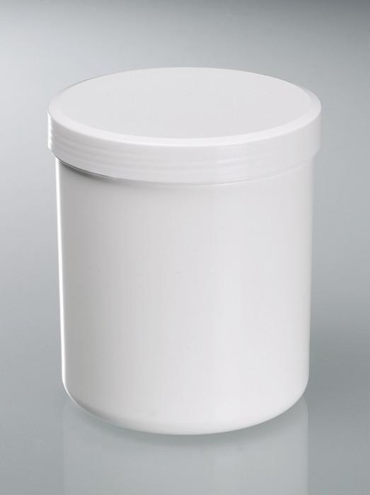 Bote de rosca - Recipiente de plástico, PP, blanco, esterilizable, equipo de laboratorio