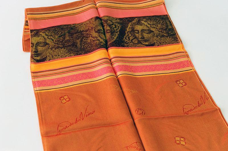 Echarpe tissée jacquard en soie - souvenirs boutique musée