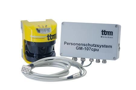 Mobiler Personenschutz GM-107cpu/V3 - Der Standard für den geregelten Lagerbetrieb
