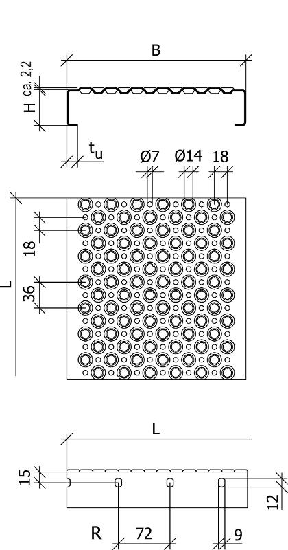 perforated metal planks, Type BN-OD, LICHTGITTER GMBH, Germany