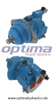 Variable displacement axial piston bent-axis hydraulic moto - Working displacement: 55, 107, 160 ccm/rev