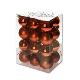 Weihnachtskugel 24 Stück 5cm Durchmesser Farbe: Schoko... - null