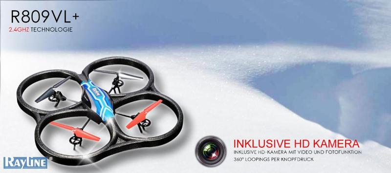 Rayline Fabrikate RC Quadrocopter - R809VL+