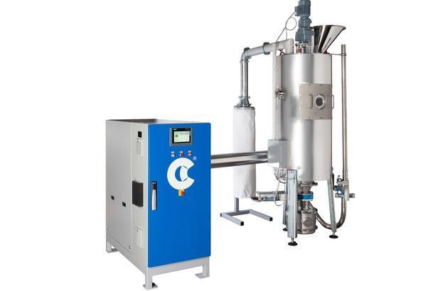 塑料結晶器 - CPK 结晶干燥机 - 用于如PET和PLA非晶型物料的连续结晶。 由于成本和效率,回收议题变得越来越重要。