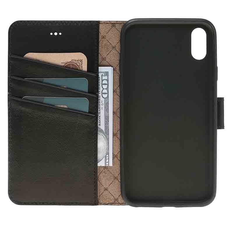 iPhone X Wallet ID Case - Leather wallet case for iphone X