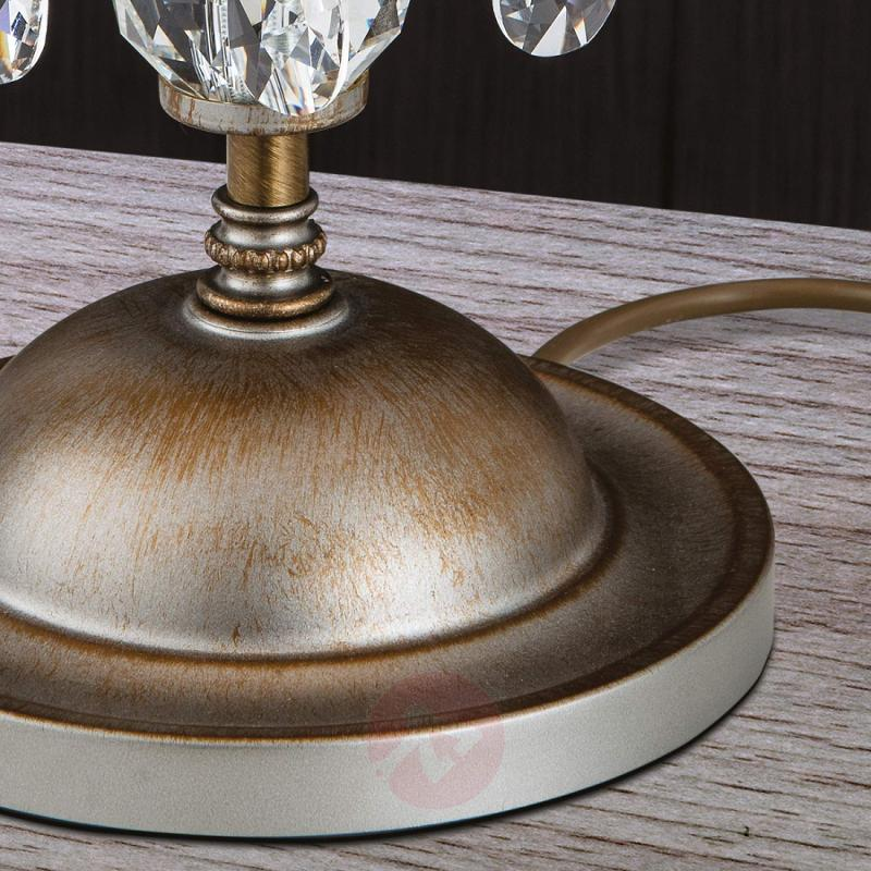 Fabric lampshade -table lamp Miramare - design-hotel-lighting