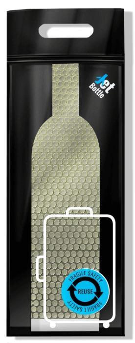 التغليف المبتكر  Jetbottle - آمن للزجاجات وجميع أمتعتك