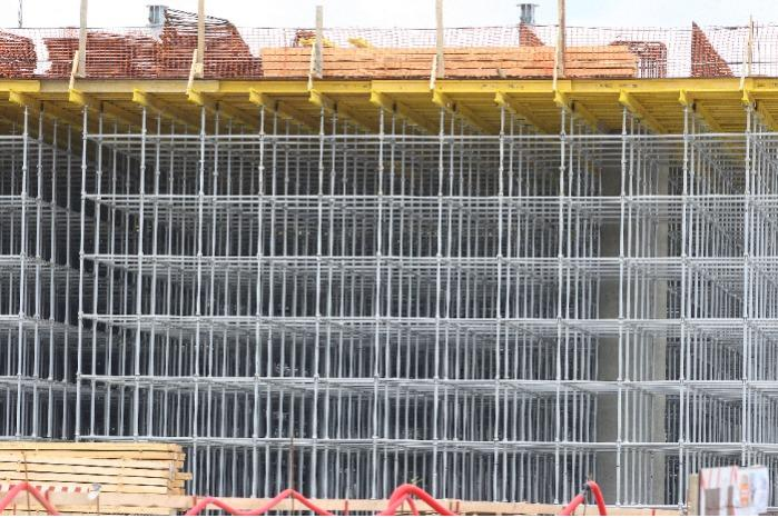 PSK-CUP multipurpose formwork system for slab - Deck form PSK-CUP combines the functions of deck form and scaffolding.