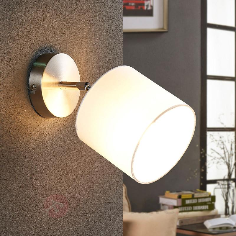 Applique LED en tissu réglable Mairi en blanc - Appliques en tissu