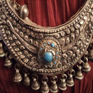 Colliers - Argent, pâte de verre et turquoises, Turquie