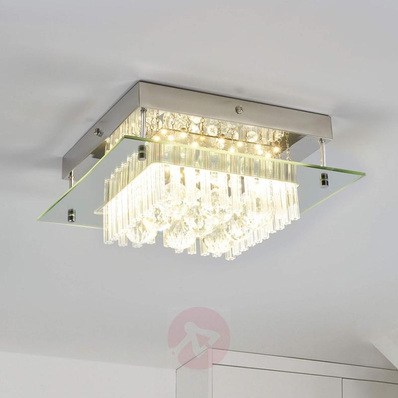 Crystal ceiling light Enie with LEDs - indoor-lighting