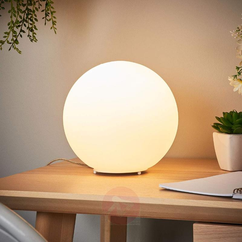 Spherical glass table lamp Fenja with LED bulb - Bedside Lamps