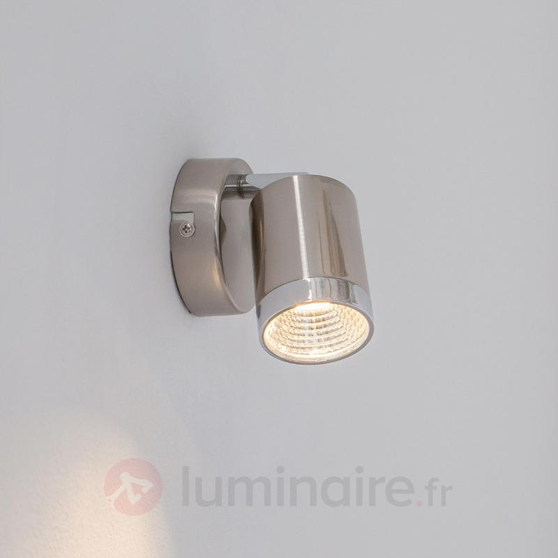 Spot LED moderne Jarne, nickel mat - Spots et projecteurs LED