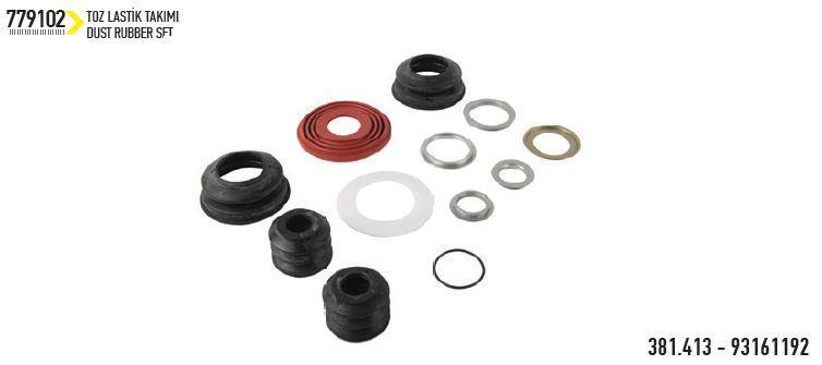 Bendix caliper dust rubber set -