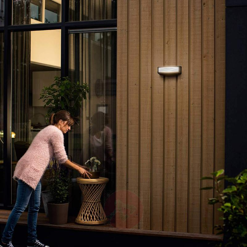 Pitchfork - LED outdoor wall lamp, cool white - Outdoor Wall Lights