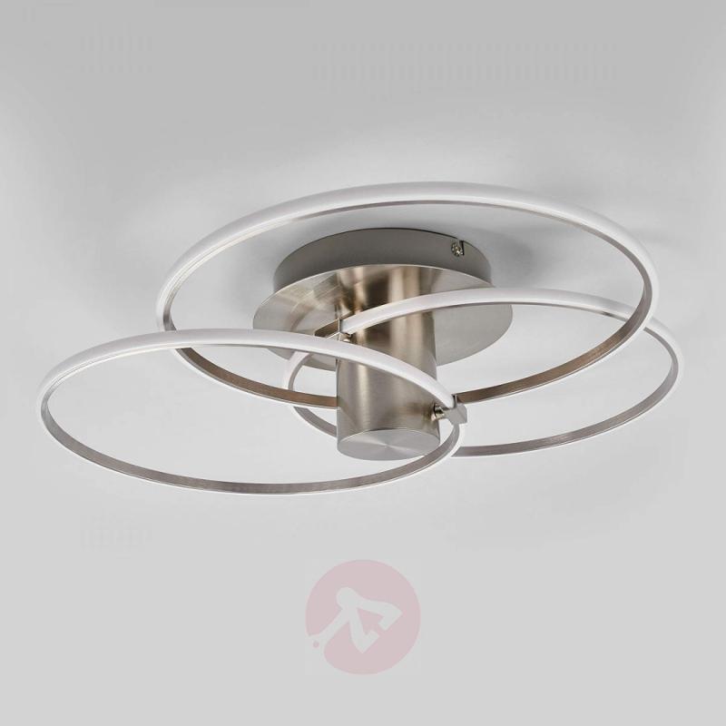 Modern LED ceiling light Antoni, 3 rings - indoor-lighting