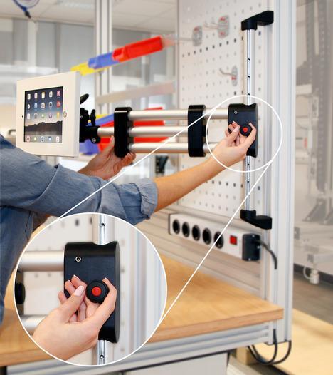 Destek kolu/destek kolu sistemi yüksekliği ayarlanabilir -