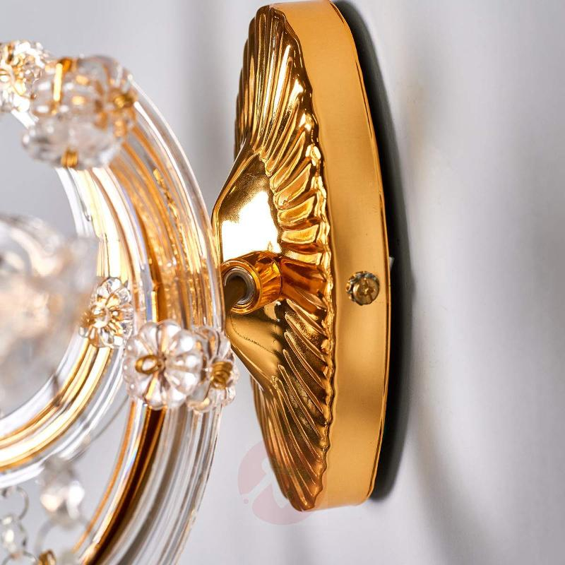 Decorated Marie Therese wall light, brass - Wall Lights