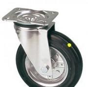 Roulettes pivotantes roue jantes acier bandage caoutchouc antistatique - null